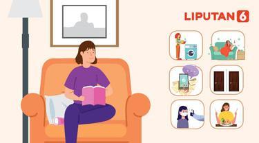 Banner Infografis 6 Tips Isolasi Mandiri di Rumah. (Liputan6.com/Abdillah)