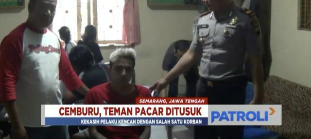 Cemburu sang pacar kencan dengan pria lain, seorang pemuda di Semarang, Jawa Tengah, tusuk dua orang teman kekasihnya.