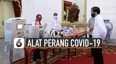 Berikut deretan alat perang Covid-19 karya anak bangsa yang diperkenalkan Presiden Jokowi.