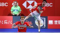 Marcus Fernaldi Gideon / Kevin Sanjaya Sukamuljo melaju ke final Denmark Terbuka 2019. (dok. PBSI)