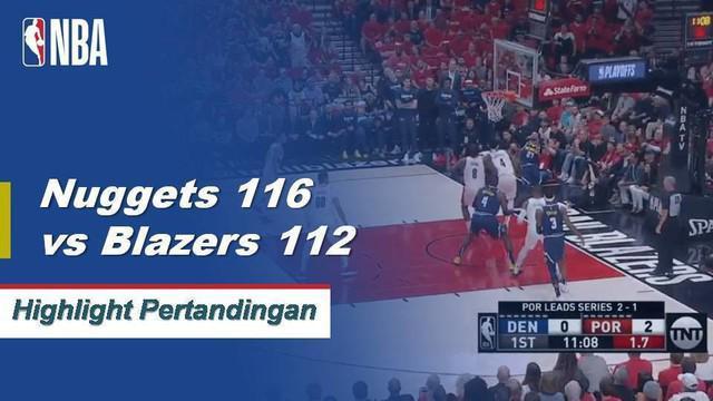Jamal Murray mencetak 34 poin, Nikola Jokic menambahkan triple double (21 poin, 12 rebound, 11 assist) ketika Denver mengalahkan Portland untuk menyamakan kedudukan menjadi 2-2.