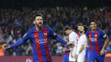 Kembali Bermain, Messi Cetak Dua Gol ke Gawang Sevilla