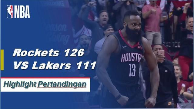 James Harden membukukan 50 poin triple-triple dengan 10 rebound dan 11 assist untuk mengisi bahan bakar Rockets melewati Lakers, 126-111.