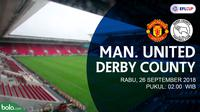 Jadwal Piala Liga Inggris, Manchester United vs Derby County. (Bola.com/Dody Iryawan)