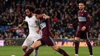 Marcelo (kiri) disorot usai kegagalan Real Madrid atasi Celta Vigo (AFP)