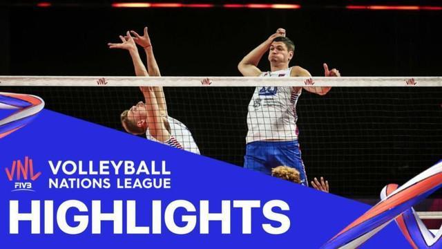 Berita Video Highlights Volleyball Nations League, Tim Putra Prancis Telan Kekalahan dari Serbia 2-3