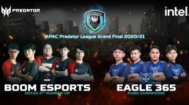 Tim esport Boom Esports dan Eagle 365. Dok: Acer Indonesia
