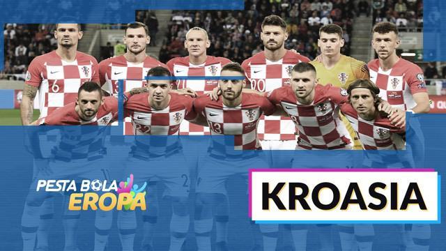 Profil tim Kroasia di Piala Eropa 2020.