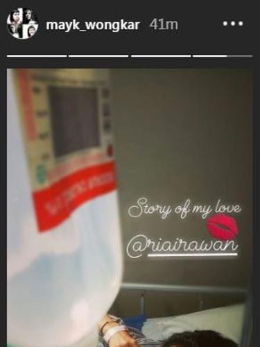 Ria Irawan (Foto: Instagram/@mayk_wongkar)