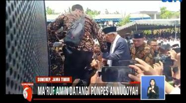 Ma'ruf akan mengkondusifkan suara di Pulau Madura, utamanya di Sumenep, karena pada pemilu sebelumnya Joko widodo atau Jokowi kalah suara.