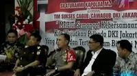Kapolda Metro bertemu timses dan pimpinan parpol pendukung tiga kandidat. Sementara genderang pertarungan memikat hati warga Jakarta dimulai