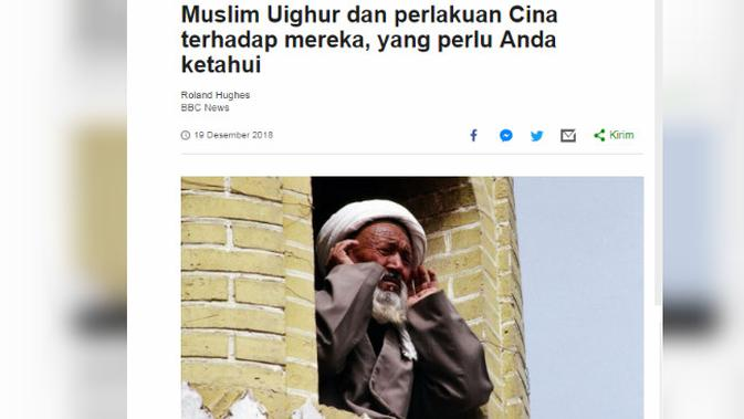 [Cek Fakta] Suku Taliban Bantu Muslim Uighur di China