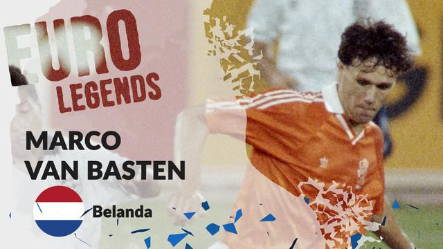 Berita motion grafis profil legenda Marco van Basten, pencetak gol indah di final Piala Eropa 1988.