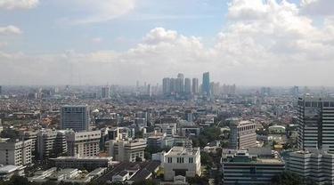 Ilustrasi Cuaca Jakarta Cerah Berawan