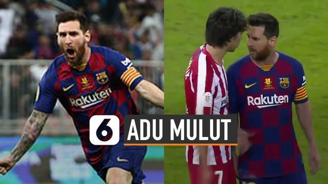 Terjadi insiden di semifinal Piala Super Spanyol dalam pertandingan Barcelona vs Atletico Madrid.
