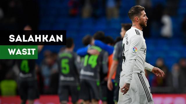 Pelatih Real Madrid, Santiago Solari mempertanyakan keputusan wasit yang tida menggunakan VAR saat Los Blancos kalah 0-2 dari Real Sociedad.