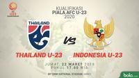 Kualifikasi Piala Asia U-23: Thailand U-23 vs Indonesia U-23. (Bola.com/Dody Iryawan)