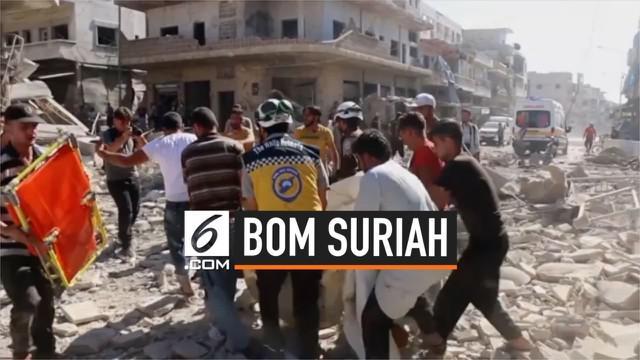 Pasar yang sedang ramai di provinsi Idlib Suriah diserang bom. Serangan mematikan itu tewaskan 23 orang, 30 lainnya alami luka-luka.