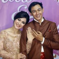 Caesar Hito dan Felicya Angelista (Muhammad Akrom Sukarya/© KapanLagi.com)