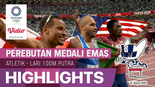 Berita video highlights final lari 100 meter Olimpiade Tokyo 2020 yang berlangsung seru dan menegangkan, di mana sprinter Italia mencetak sejarah, Minggu (1/8/2021) malam hari WIB.
