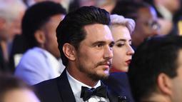 Aktor James Franco menghadiri acara penghargaan Screen Actors Guild (SAG) Awards di Los Angeles, Minggu (21/1). Padahal belakangan ini Franco memilih 'bersembunyi' setelah mendapat kecaman atas pelecehan seksual. (Christopher Polk/Getty Images/AFP)