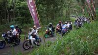 Seri penutup Suryanation Motorland Ridescape di Malang diikuti ribuan bikers dari berbagai daerah. (ist)