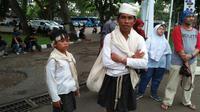 Salim peserta terkecil Badui Seba. (Liputan6.com/Yandhi Deslatama)