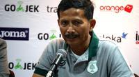 Djajang Nurdjaman punya rekor pribadi yang bagus saat PSMS kontra PSIS di Stadion GBLA (Liputan6.com/Kukuh Saokani)