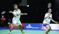 Ganda campuran Indonesia, Praveen Jordan/Melati Daeva Oktavianti, saat berlaga di PBSI Home Tournament. (Dok PBSI)