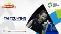 Superstar Asian Games, Tai Tzu-ying. (Bola.com/Dody Iryawan)