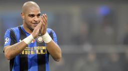 2. Adriano - Adriano bergabung dengan Inter Milan di tahun 2004 dengan nilai kontrak mencapai 23,4 juta Euro. (AFP/Damien Meyer)