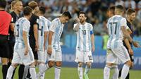 Para pemain timnas Argentina setelah dilumat Kroasia. (AP Photo/Ricardo Mazalan)