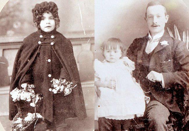 Gladys masa kecil dan saat bersama ayahnya | foto: copyright dailymail.co.uk