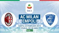 Serie A: AC Milan Vs Empoli (Bola.com/Adreanus Titus)
