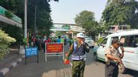 Operasi Patuh Jaya 2016 di Jalan Otista Raya, Jakarta Timur (Liputan6.com/ Nanda Perdana Putra)