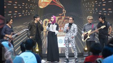 Grup band GIGI saat menjadi bintang tamu spesial dalam program Golden Memories Indosiar bersama Bank BTN di Studio 1 Indosiar, Daan Mogot, Jakarta, Sabtu (03/12). (Liputan6.com/Immanuel Antonius)