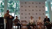 Kemlu RI (8/10/2019) menggelar pengarahan media untuk kegiatan Indonesia-Visegrad Group Business Forum 2019 yang akan dilaksanakan pada 17 September 2019, berbarengan dengan Trade Expo Indonesia 2019 di BSD, Tangerang (Rizki Akbar Hasan / Liputan6.com)