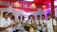 Ketua Tim Kampanye Nasional (TKN) Erick Thohir meresmikan posko Tim Kampanye Daerah (TKD) Jawa Timur untuk pemenangan Capres-Cawapres Jokowi-Ma'ruf Amin, di Surabaya. (Liputan6.com/ Dian Kurniawan)