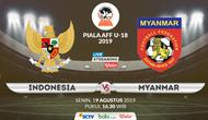 Piala AFF U-18 2019: Indonesia vs Myanmar. (Bola.com/Dody Iryawan)