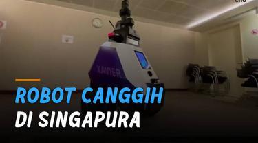 Sebuah robot milik negara Singapura bernama Robot Otonom Xavier ini bisa mendeteksi masyarakat yang melanggar aturan.