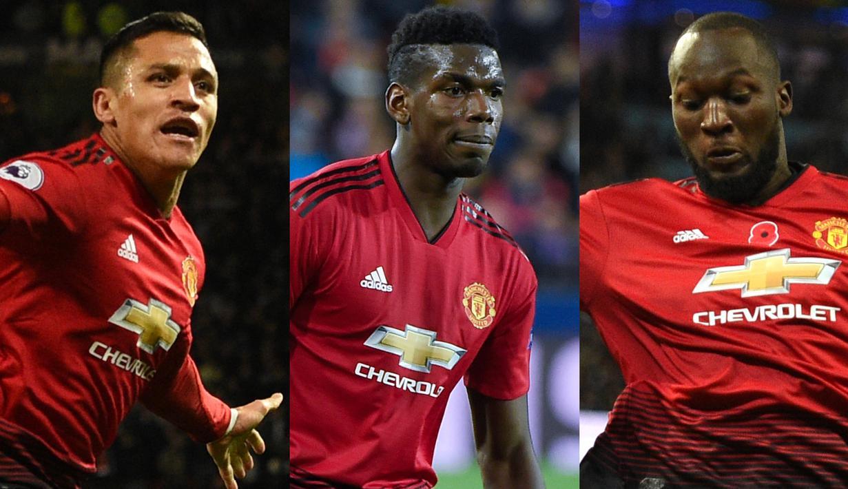 FOTO Paul Pogba Dan 3 Pemain Manchester United Yang