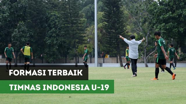 Pelatih timnas Indonesia U-19, Indra Sjafri, memiliki beberapa formasi yang disiapkan untuk timnya pada Piala Asia U-19 nanti. Indra mengakui, bahwa dirinya masih mencari formasi terbaik untuk event tersebut.