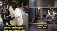 Tangis haru bapak dorong motor yang viral dapat donasi dari netizen. (TikTok/pratiwi_noviyanthi_real)