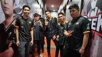 Tim RRQ yang berlaga pada ajang MPL Indonesia Season 4.  (FOTO / Montoon)