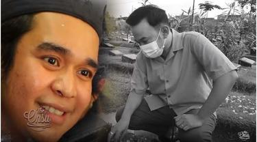 6 Momen Ruben Onsu Ziarah ke Makam Olga Syahputra, Kenang Ulang Tahun Sahabat