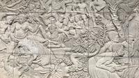 Salah satu ukiran relief yang terdapat di Hotel Indonesia dalam menyambut Asian Games 1962. (Liputan6.com/Ahmad Fawwaz Usman)