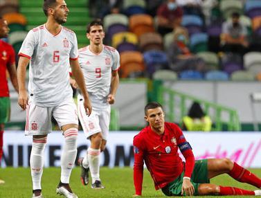 Cristiano Ronaldo Gagal Cetak Gol, Portugal Ditahan Imbang Spanyol