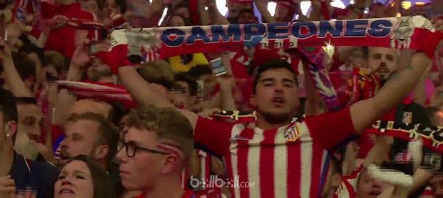 Berita video aksi selebrasi suporter setelah Atletico Madrid menjadi juara Liga Europa 2017-2018. This video presented by BallBall.