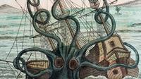 Kraken, cumi-cumi raksasa yang menjadi makhluk mitologi paling misterius di lautan (Wikimedia commons)