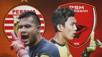 Piala Menpora - Duel Kiper Persija Jakarta Vs PSM Makassar (Bola.com/Adreanus Titus)